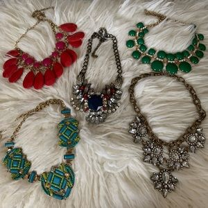 Bundle of 5 Statement Necklaces!!